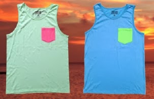 Neon Pocket Tank Tops